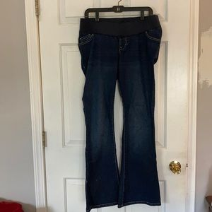 Old Navy maternity jeans dark wash flare